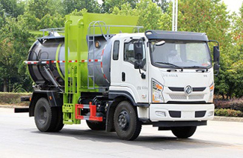 國六東風專底餐廚垃圾車9方專底餐余生活垃圾車生產廠家