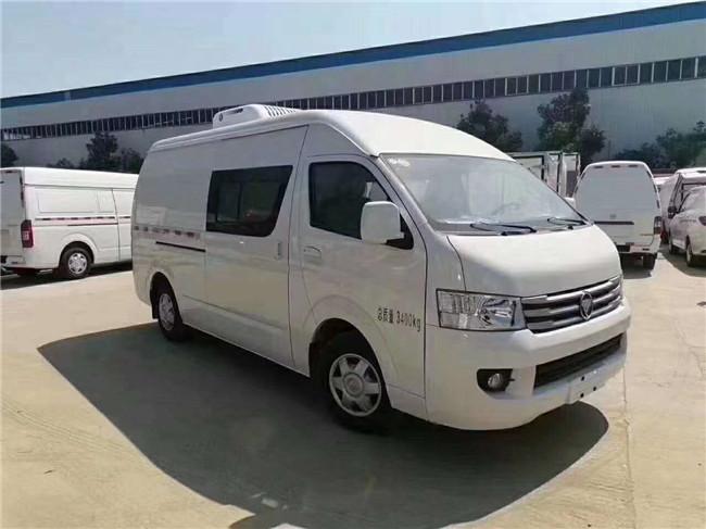 柴油款面包冷藏車:福田G9雙排座冷藏車-福田風景國六面包冷藏車價格