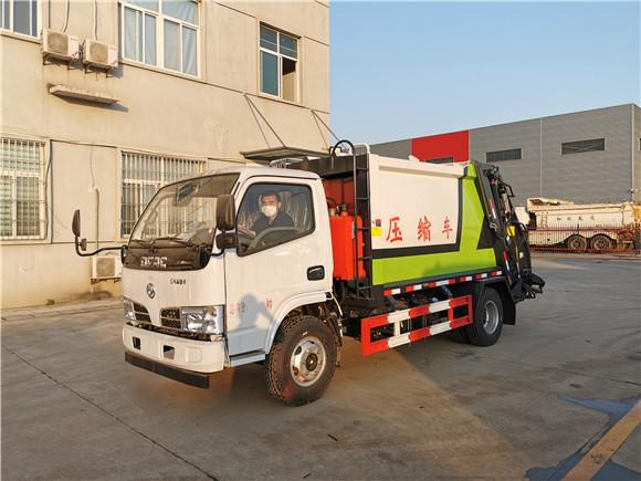 國五東風小多利卡5方壓縮垃圾車實用于小區街道必備