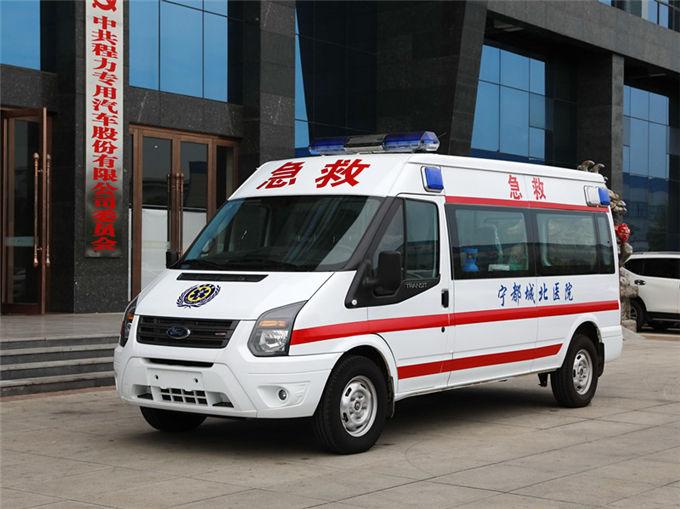 国六江铃福特v348(柴油)长轴中顶运输型救护车