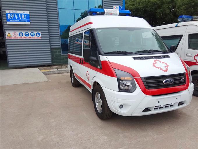 国六江铃福特v348(柴油)短轴中顶运输型救护车
