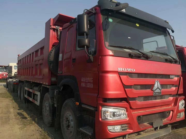 重汽豪沃8米 8自卸车天马箱火红