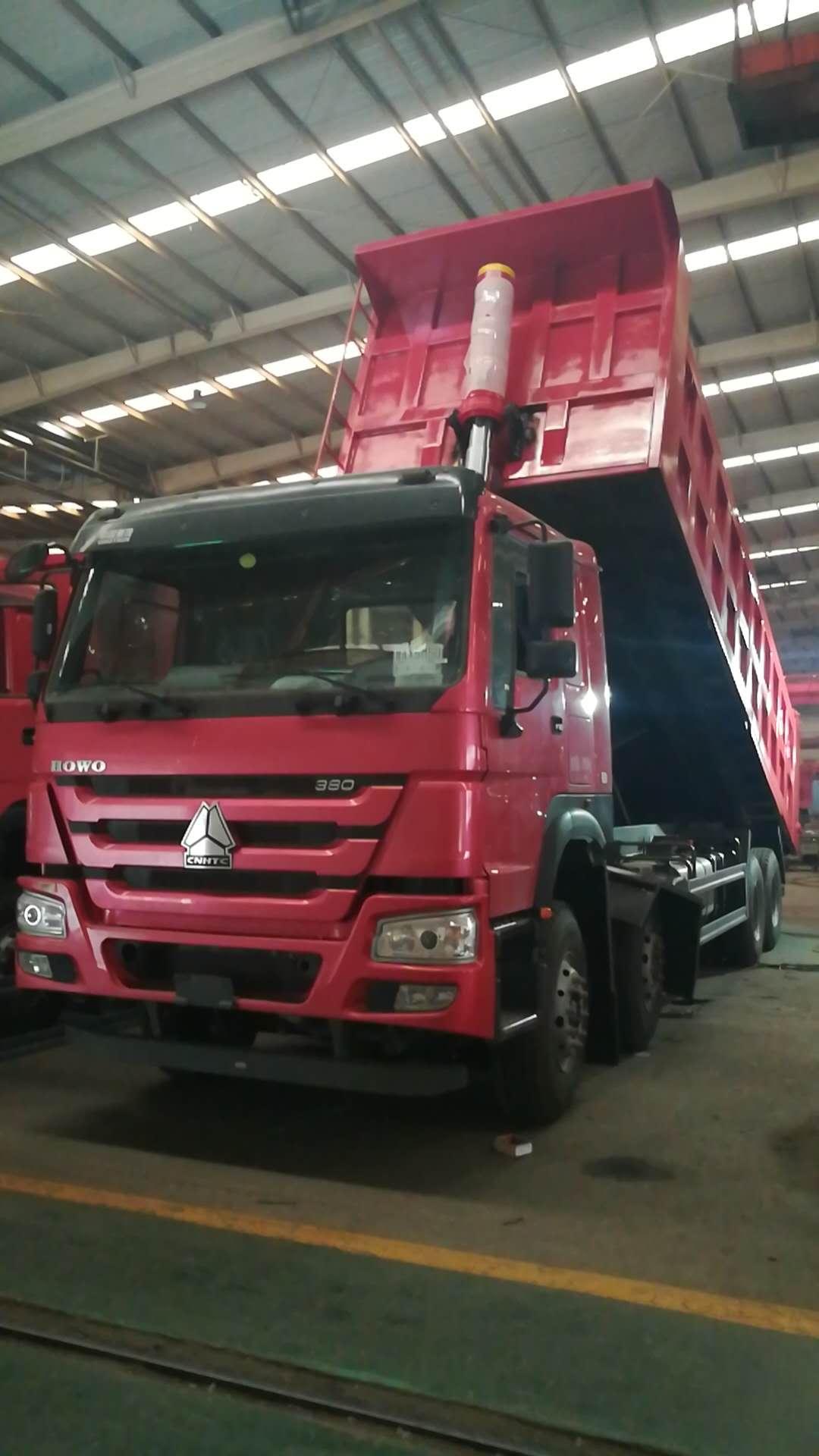 豪沃8米380马力自卸车厂家直销