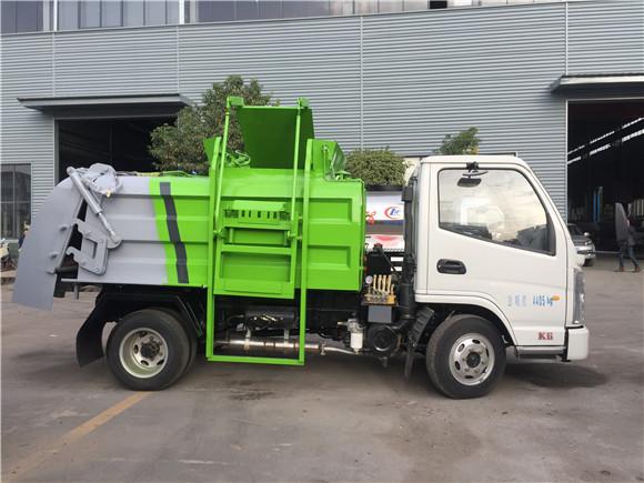 国六3方蓝牌餐厨垃圾车(厨余垃圾车),不超重,上户无忧