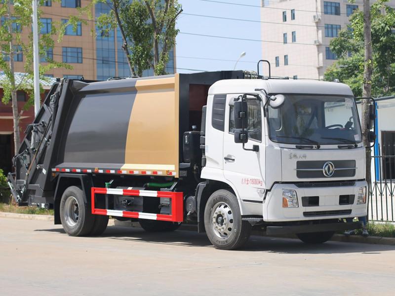 國六東風天錦后裝壓縮垃圾車多少錢