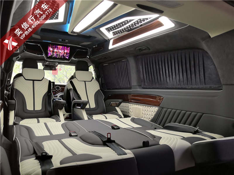 奔驰V级房车 7座内饰改装定制 电话优惠报价
