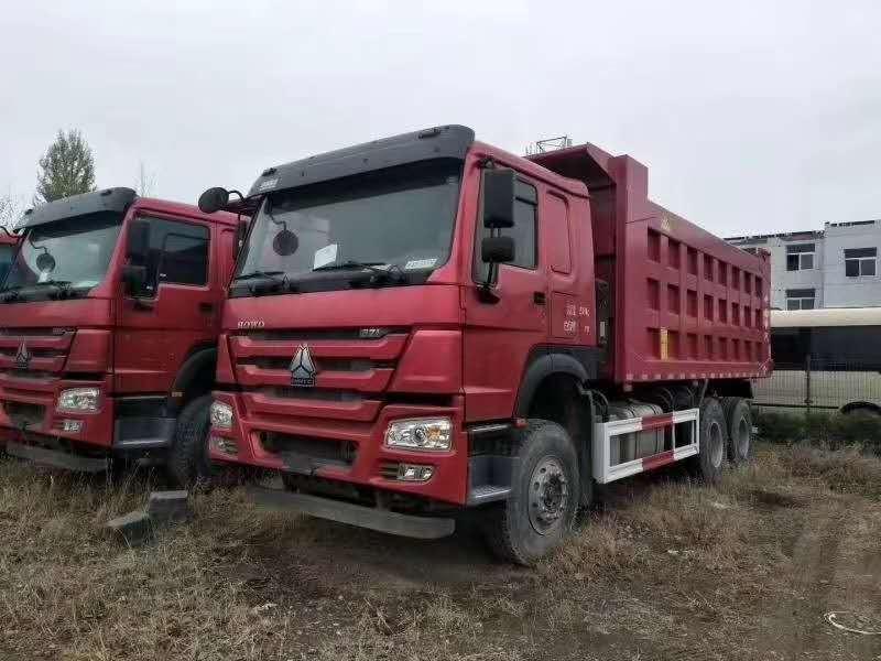 国二15台豪沃5.8米371马力矿坑自卸车