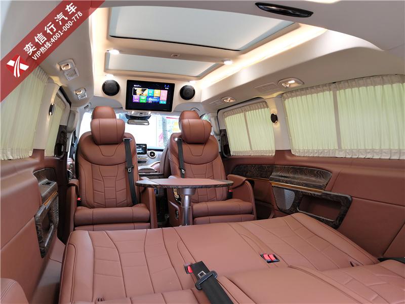 宁波 高级商务车那里有买?奔驰V级 威霆7座商务车定制改装多少钱?