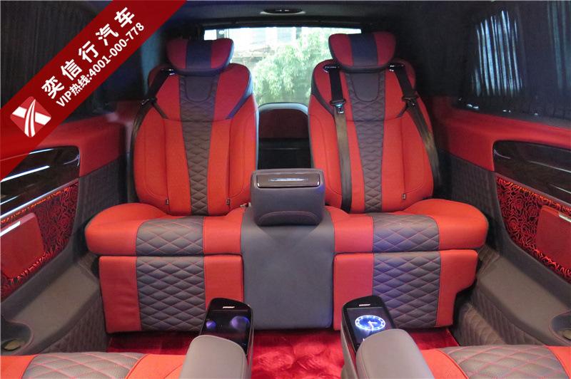 7座奔馳V260改裝商務車 高頂 座椅 內飾 煥然一新,征戰商場金名片