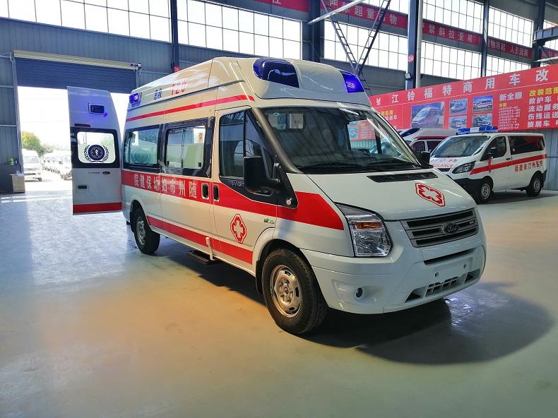 福特V348救护车-美式米高蓝款重症监护型救护车