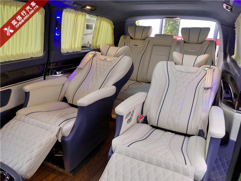 湖北隨州市 奔馳商務車7座平頂愛瑪士藍配色 雙天窗按摩座椅 優惠報價