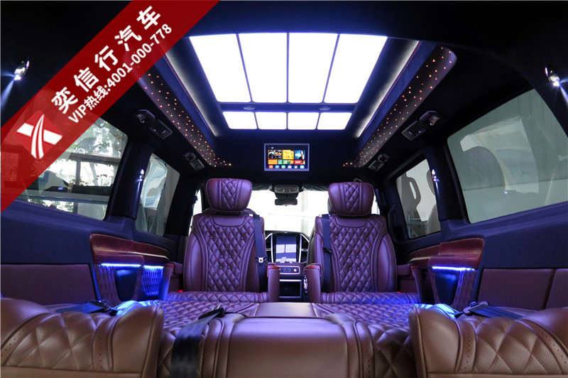 金华 兰溪 奔驰威霆房车 配高顶 星空灯 航空座椅 地板 电视 七座商务车价格