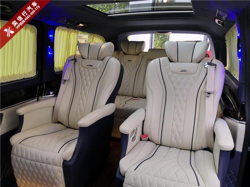 湖州 安吉  南浔 奔驰V级商务车改装 爱玛士蓝内饰升级按摩座椅 优惠报价