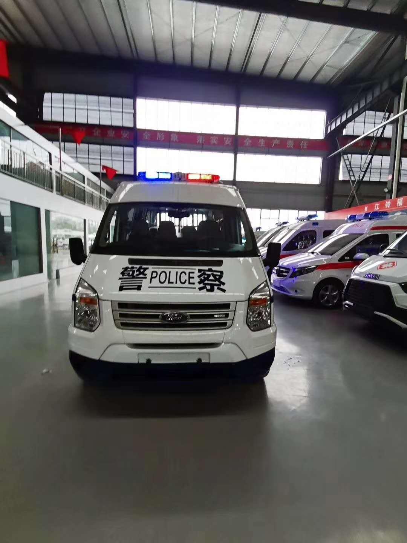 警用囚车_警用押解车_江铃福特v348警用囚车参数配置图片