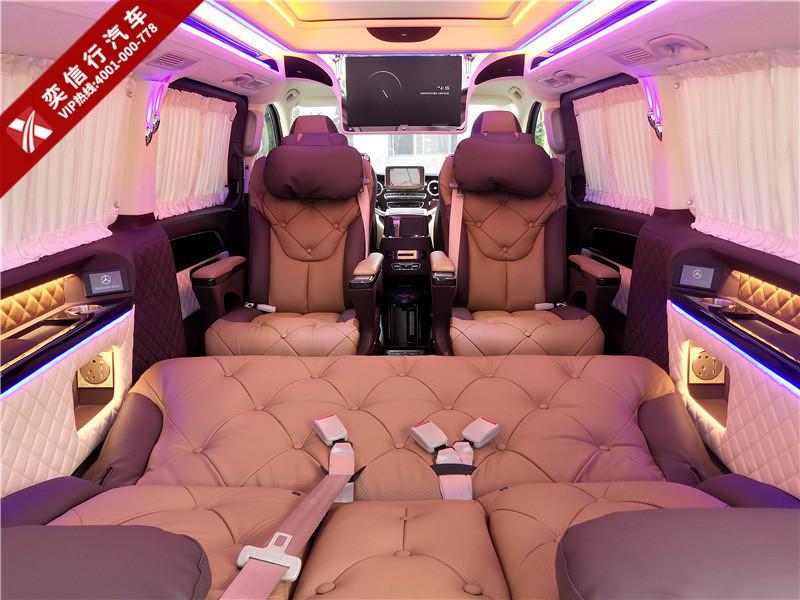 长沙  奔驰V级7座高顶房车 地板双天窗配航空座椅,购车送杭州2日游