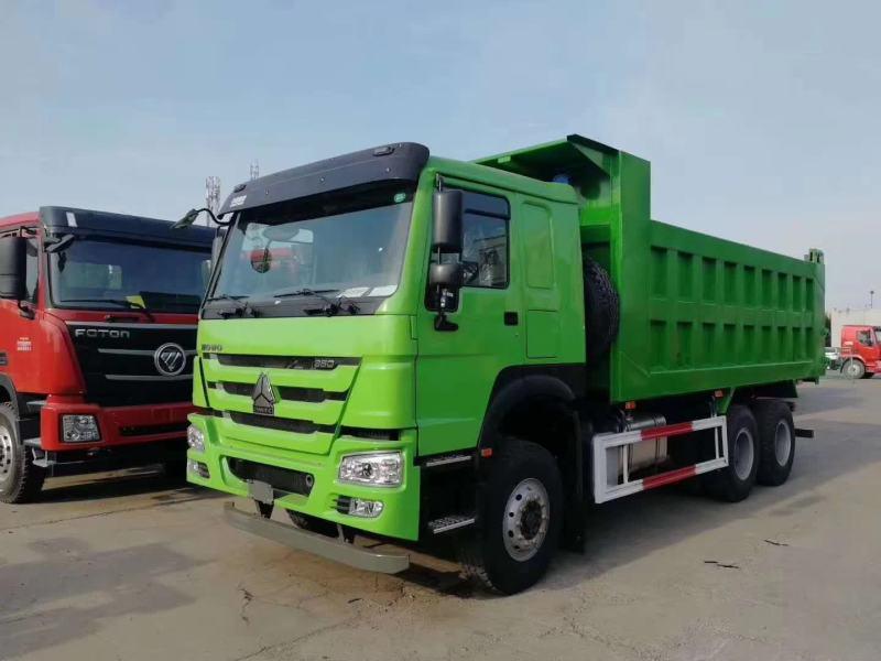 重汽豪沃6.3自卸車綠色紅色380馬力