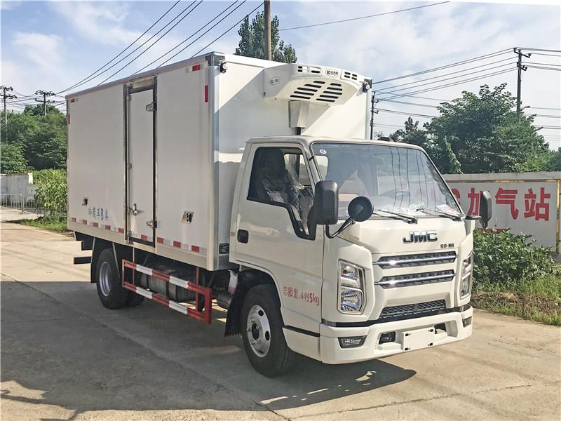 国六江铃顺达4.2米蓝牌冷藏车8月订车送倒车影像