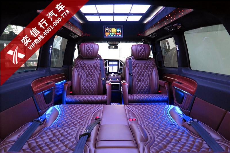 舟山 定海 奔馳威霆改裝房車7座高頂星空版 棕色與藍色交輝 高貴又價廉,最低報價