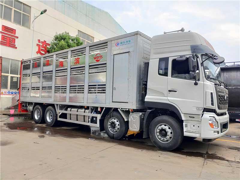 9米6铝合金拉猪车厂家_价格_配置
