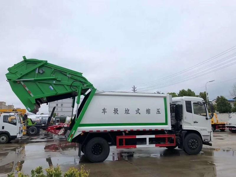 国六东风天锦14方压缩垃圾车