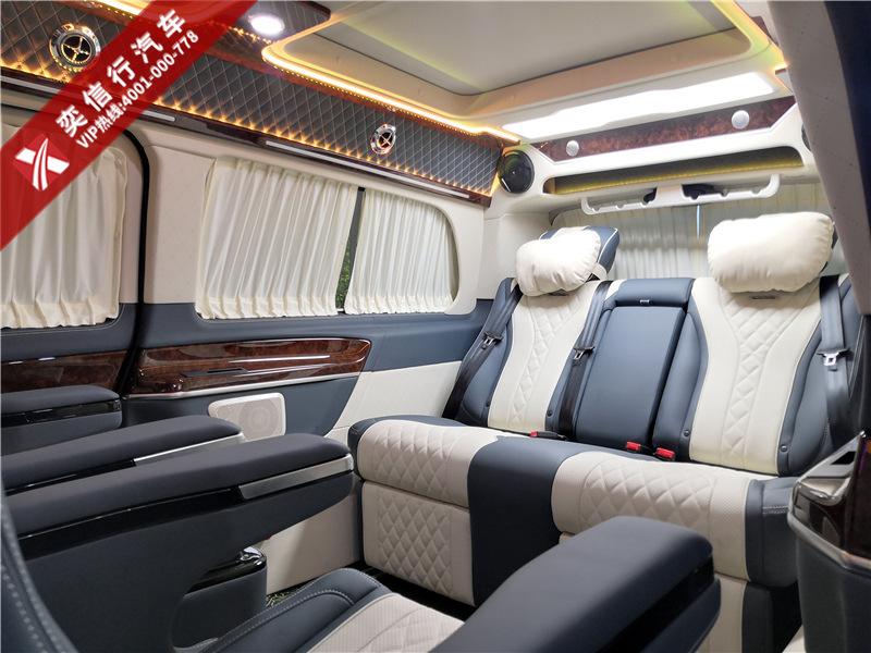 登封 中牟 奔驰V级商务车改装高顶内饰多少价格?7座V260房车报价?