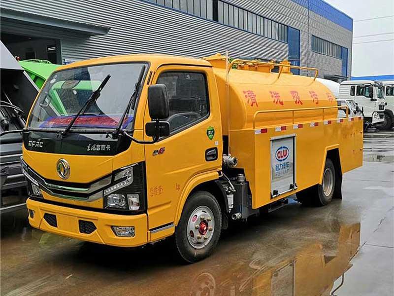东风国六小型清洗吸污车厂家配置说明