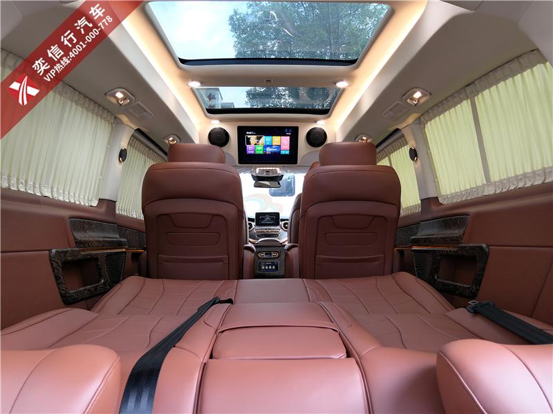 茂名 高州市奔馳V級7座改裝商務車 內飾外觀定制房車圖片優惠報價