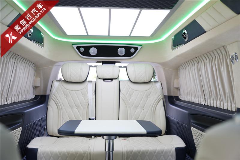 邵陽 洞口縣 奔馳V260房車7座 改裝升級商務車優惠報價 內飾圖片