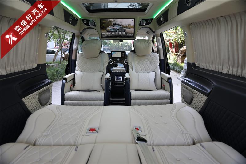 岳陽 湘陰縣奔馳V260房車7座 改裝升級商務車報價 精美內飾圖片