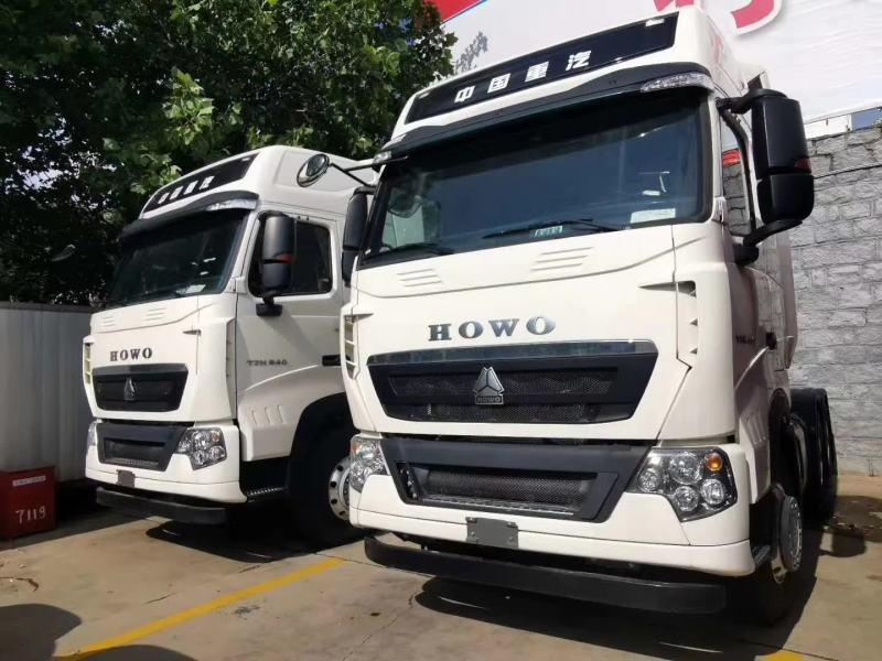 重汽豪沃540马力T7牵引车白色3.7速比6x4
