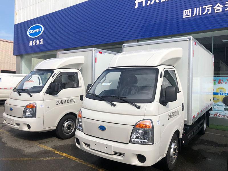 批发代理成都地区电动面包车 新能源电动冷藏车QXXYSZBESBEV