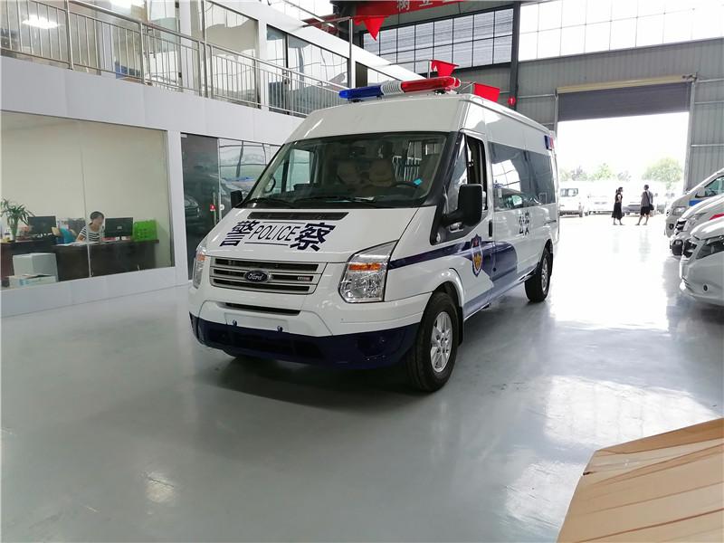 福特V348長軸中頂11-15座囚車價格_廠家