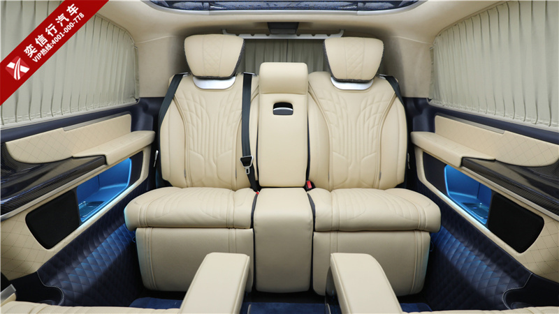 怎样的商务车堪称顶级奢华?普曼巅峰版 7座奔驰V260改装房车,震撼来袭