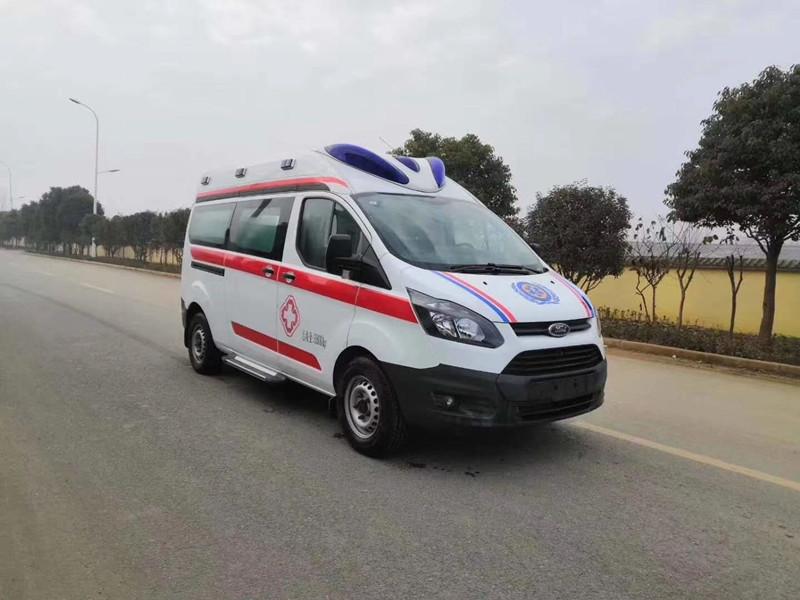 福特v362监护型救护车_国六福特自动挡救护车价格_福特ABS一体成型救护车
