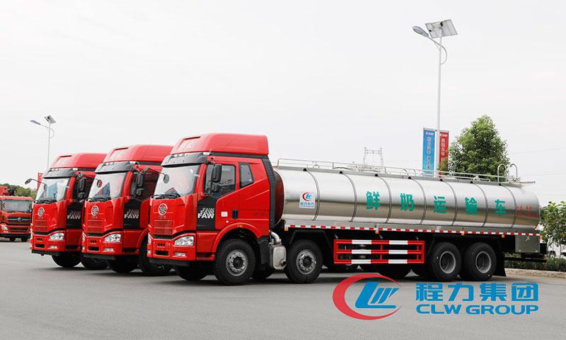 不锈钢鲜奶运输车_牛奶保鲜运输车厂家_报价_价格_图片