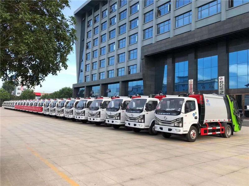 近期某环卫部门在我司订购了25台国六东风多利卡D6压缩式垃圾车现已发车