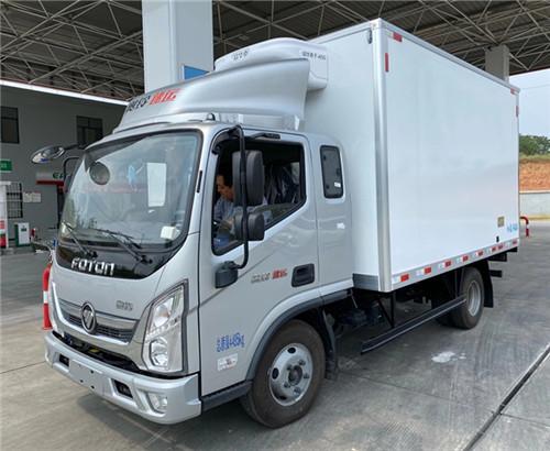 福田奥铃排半3米7冷藏车价格_运输生鲜水产肉类蓝牌冷藏车多少钱