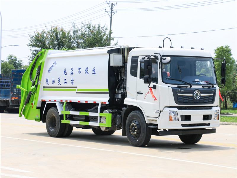 国六东风天锦14方压缩式垃圾车配置及报价