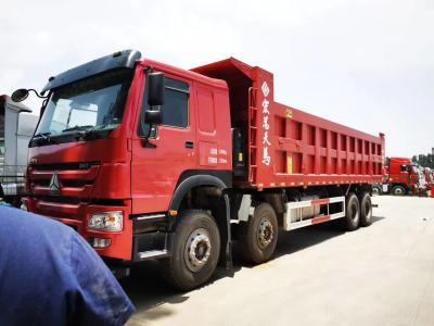 重汽豪沃8.8米自卸车380马力火红色