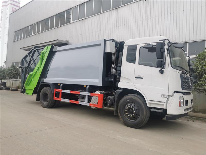 厂家推荐:今日新出库东风天锦压缩垃圾车|14方压缩式垃圾车配置及价格