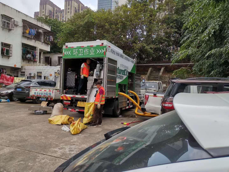 化粪池无害化清理车,移动污水处理新型设备