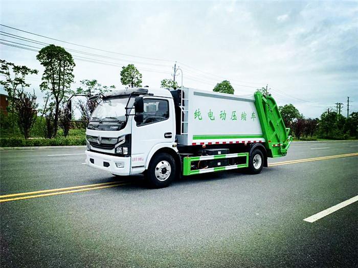 新能源垃圾车厂家,东风纯电动压缩垃圾车配置介绍