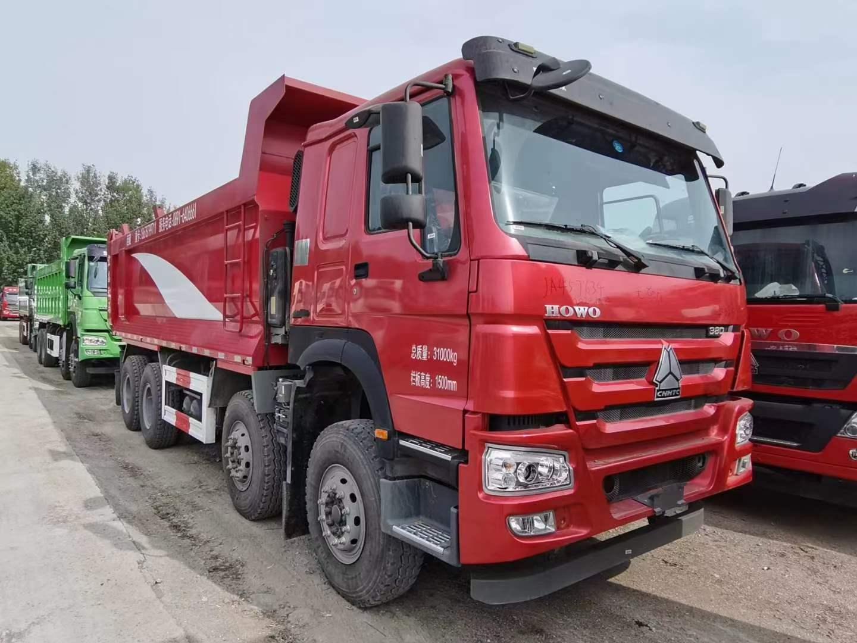 水晶红 豪沃T7H  6.8米自卸车