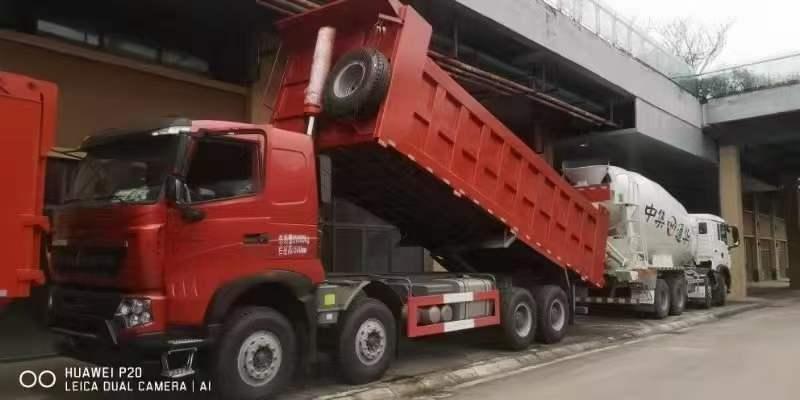 5台7.6米重载T7自卸车