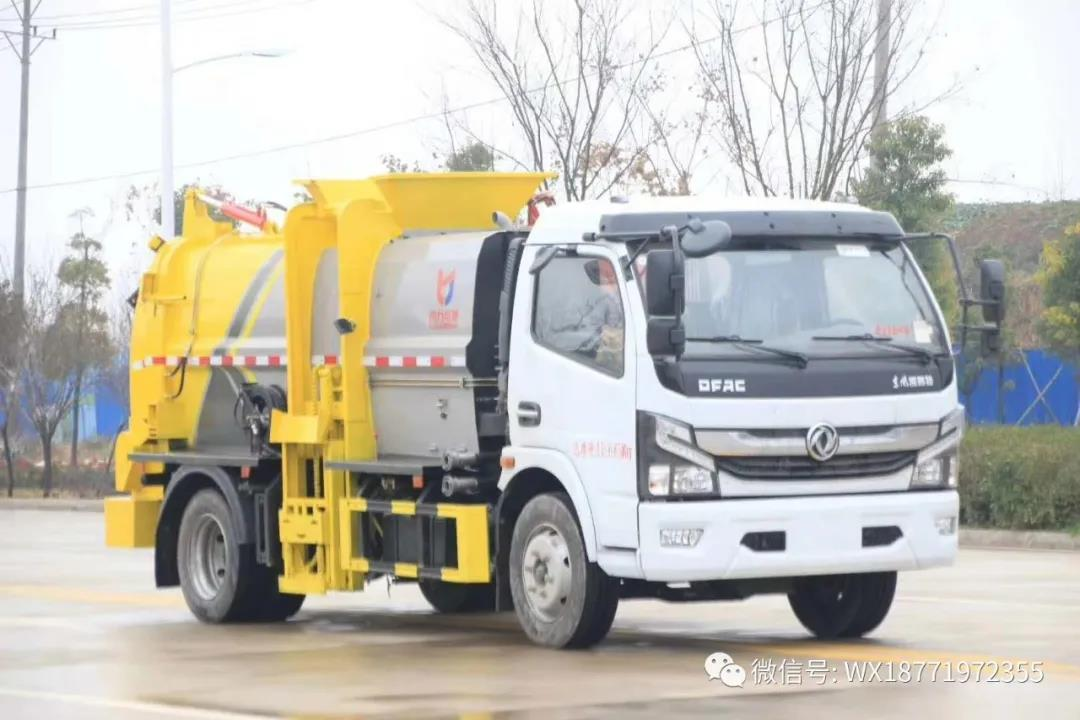 国六8方餐厨垃圾车,助力垃圾分类转运