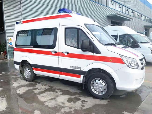 福田图雅诺救护车医疗舱救护设施 福田救护车最低价格