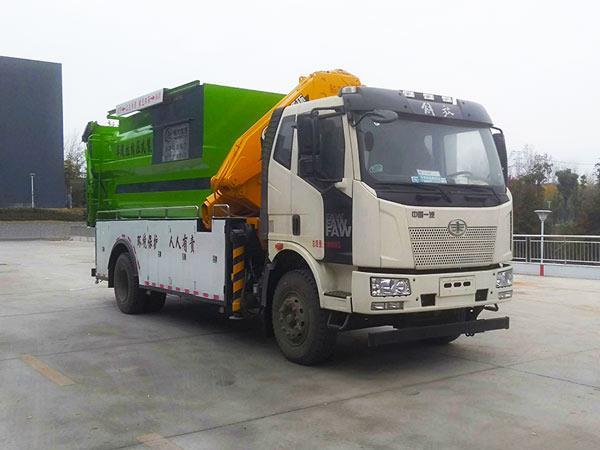 解放吊装式垃圾车_解放自装卸式垃圾车_解放新型吊装式垃圾车