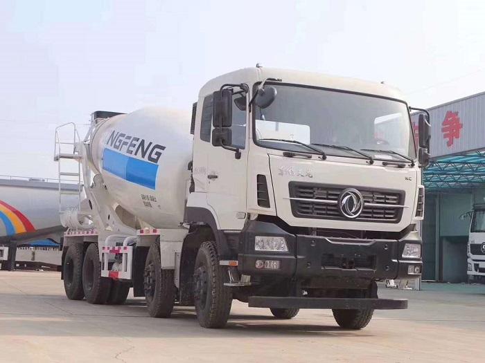 东风天龙国六天燃气搅拌车LNG燃料8-12方报价_厂家