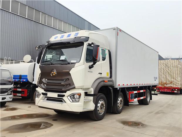 中国重汽豪瀚N5G320(6米8)冷藏车价格-重汽豪瀚6米8冷藏车报价