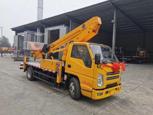 国六江铃顺达蓝牌17.5米直臂伸缩式高空作业车厂家现车促销